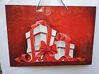 Пакет подарочный бумажный гигант горизонтальный 46х32х15