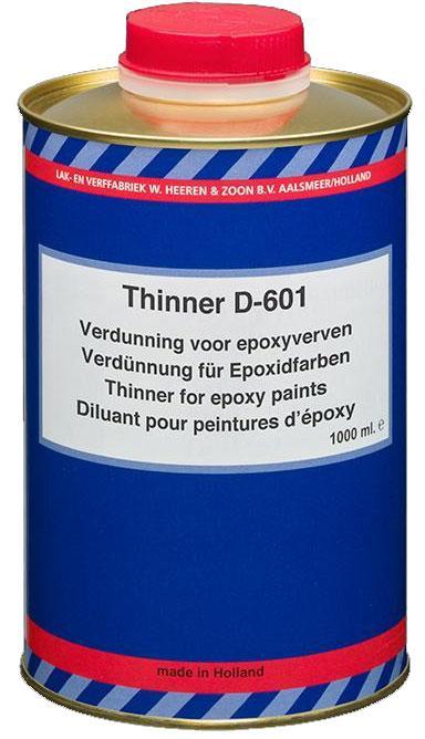 Растворитель для эпоксидных грунтовок D-601, 1 л