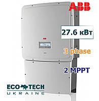 Солнечный инвертор АВB TRIO-27.6-TL-OUTD-S2F-400 (27.6 кВт, 3 фазы, 2 трекера), фото 1