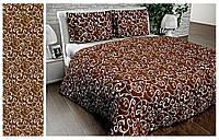 Постельное белье Комплект «Вензель коричневый классический» (1,5 спальный)