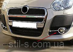 Накладки на противотуманные фары Fiat Doblo 2010>