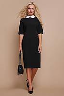 Ділова напівприталена сукня з костюмної тканини, фото 1