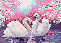 Лебеди - схема вышивки