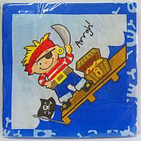 Салфетки бумажные праздничные Пират (10 шт) в упаковке