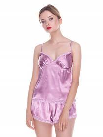Пижама шелковая майка и шорты, ТМ Serenade арт. 643 фрез
