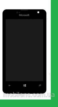Microsoft 430 Lumia, RM-1099 Дисплей+тачскрин(сенсор) в рамке черный, фото 2
