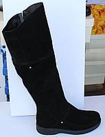 Женские замшевые зимние сапоги на низком ходу, зимние сапоги на худую ногу от производителя модель МВ253С, фото 1