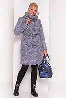 Зимнее пальто с хомутом