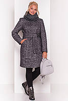 Зимнее пальто со съемным хомутом