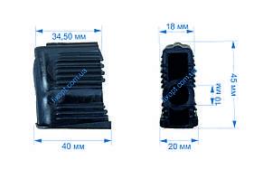 Заглушки для офисных кресел под ролики 10мм. (комплект 5 шт.), фото 2