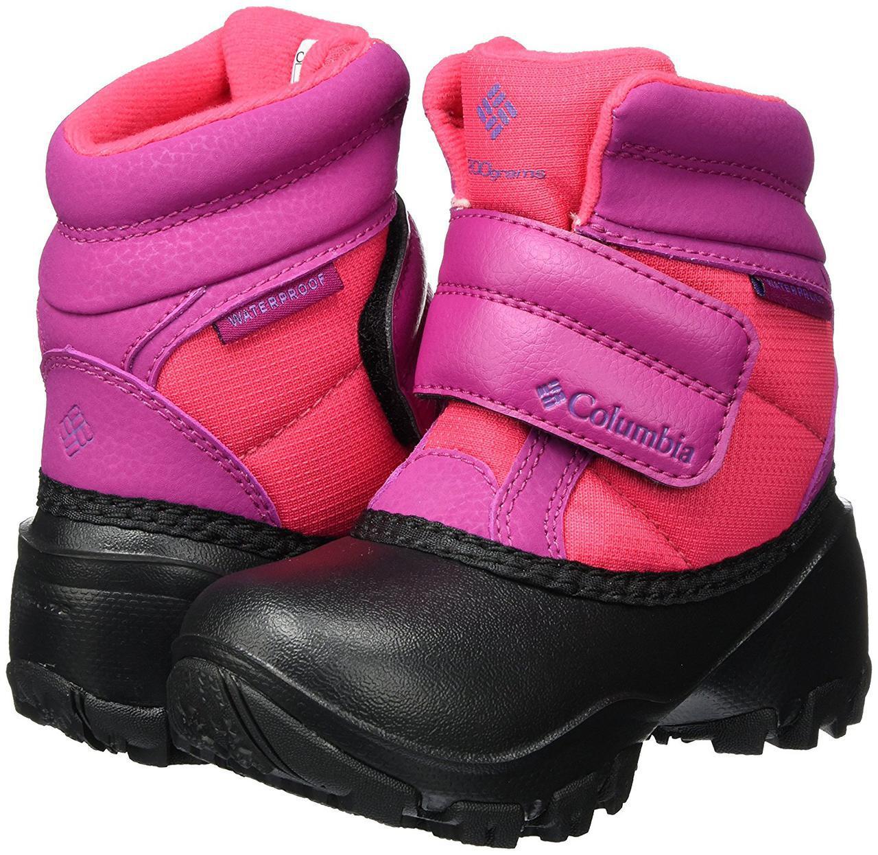 Ботинки зимние детские Columbia Kids Rope Tow Kruser сапоги непромокаемые  Розовый, 39 05773c70178