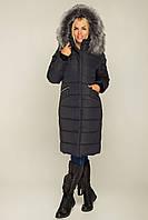 Женское зимнее удлиненное пальто ниже колен.. Теплое, модное, больших размеров. р-44,46,48,50,52,54,56,58