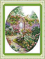 Цветущий сад 649/2 Набор для вышивания крестиком с печатью на ткани 14ст