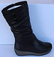 Женские зимние кожаные сапоги на платформе, зимние сапоги от производителя модель МВ302, фото 1