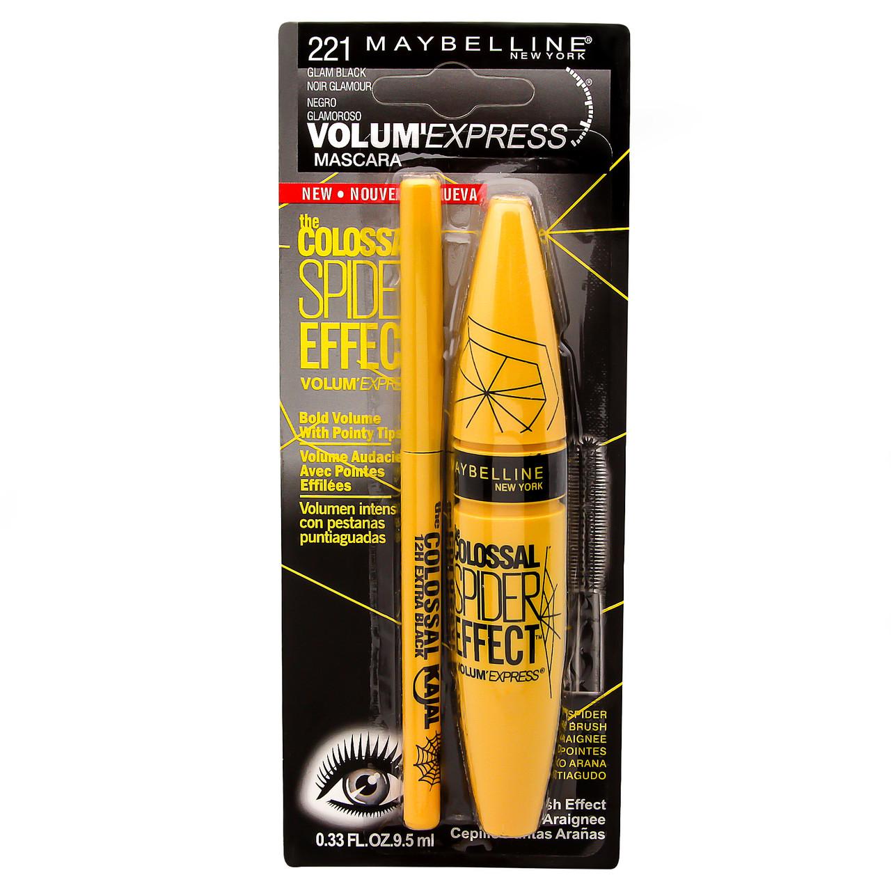 Тушь для ресниц Maybelline Colossal Spider Effect с карандашом