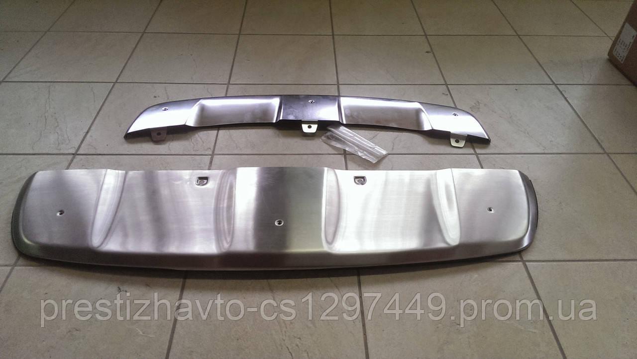Накладка на передний и задний бампера BMW X6