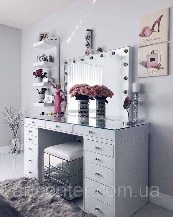 Туалетный столик класса ЛЮКС, стол для парикмахера, визажный стол