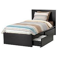 IKEA MALM (190.129.89) Кровать, 2 контейнера для хранения