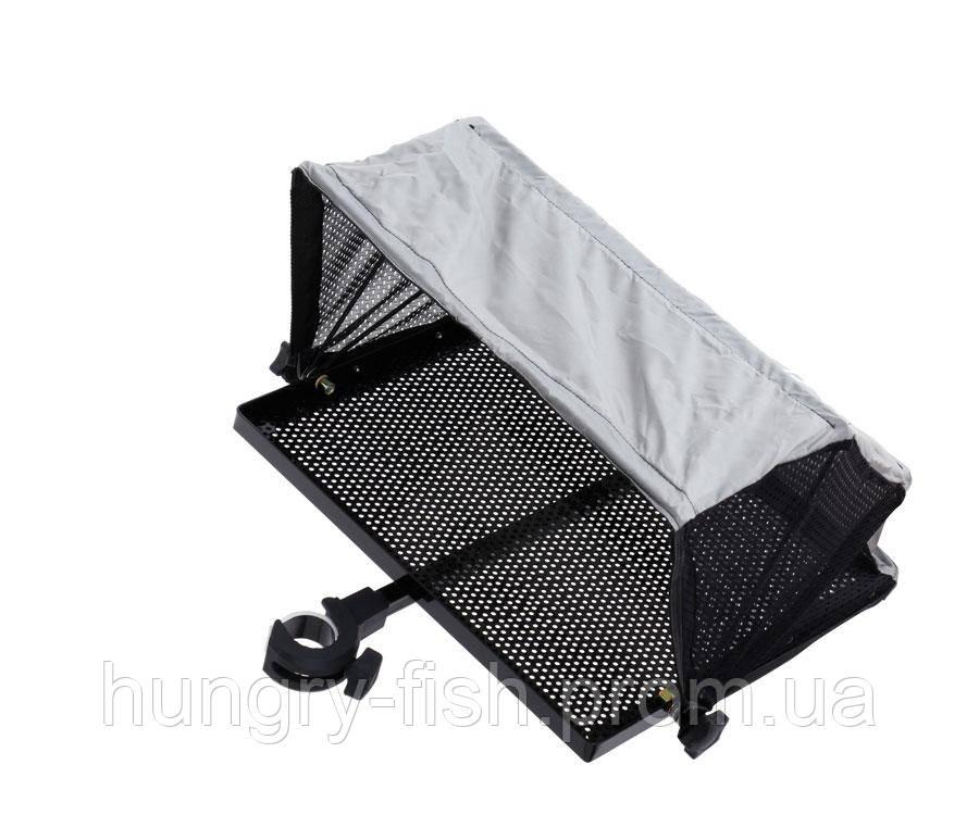 Столик з тентом і кріпленням до платформи Flagman side tray 405x335mm D36mm