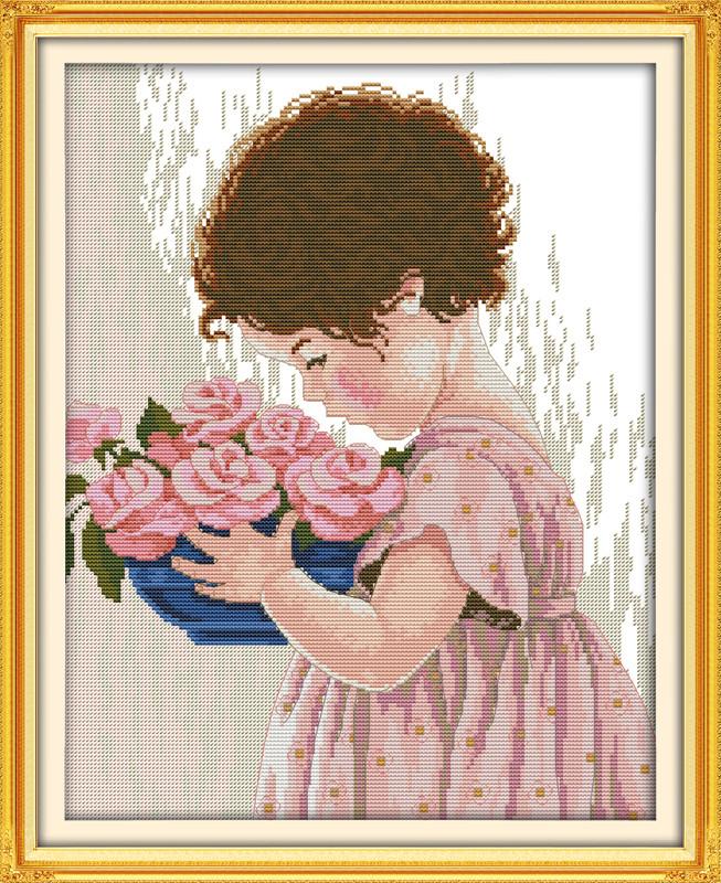 Розы Эми R509  Набор для вышивки крестом с печатью на ткани 14ст