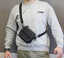 Тактическая универсальная (поясная) сумка - подсумок с ремнём и системой M.O.L.L.E (2013-black), фото 3