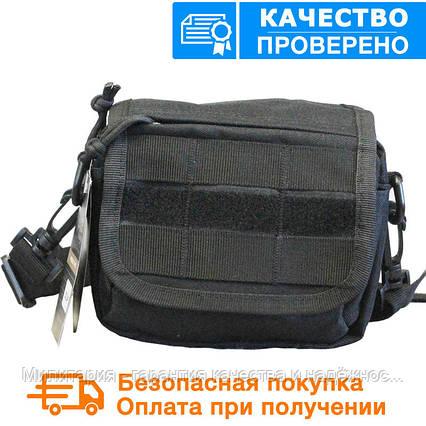 Тактическая универсальная (поясная) сумка - подсумок с ремнём и системой M.O.L.L.E (2013-black), фото 2