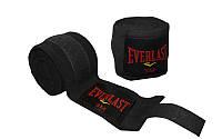 Бинты боксерские хлопок с эластаном Everlast BO-3729 3м черные