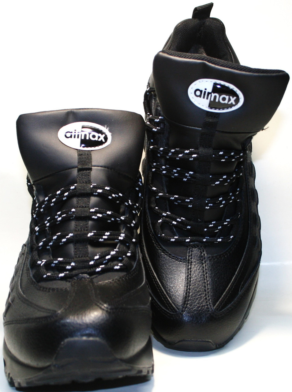 Кроссовки зимние мужские Nike Air Max 95 All Black с мехом от ... ce118d6ddb7