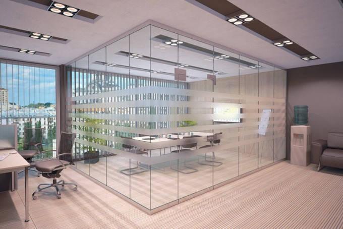 Изготовление стационарных перегородок из стекла