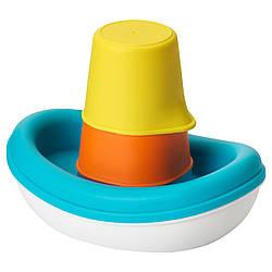 IKEA SMAKRYP (202.603.94) Игрушки для ванны, 3 шт., Корабль