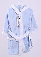 Супер Цена Детский махровый халат голубой Турция набор халат и тапочки размер L