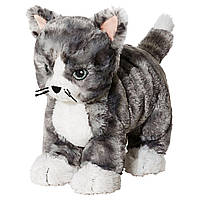 ✅ IKEA LILLEPLUTT (002.604.51) Мягкая игрушка, серый кот, белый