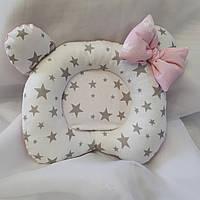 """Ортопедическая подушка """"Звездочка"""" для новорожденных двусторонняя, фото 1"""