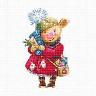 Набор для вышивания крестиком B1153 Рождественская свинка