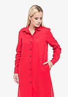 Червоне лляне плаття-сорочка