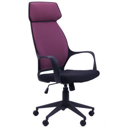 Кресло Concept пластик черный, ткань пурпурная (AMF-ТМ)