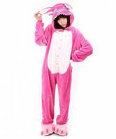 Кигуруми детский Стич (розовый) 130