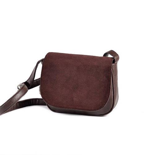 4120d61f98d3 Коричневая маленькая замшевая сумочка на плечо М55-40/замш: продажа, цена в  Днепре. женские сумочки и клатчи от
