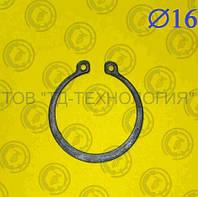 Кольцо стопорное Ф16 ГОСТ 13942-86 (НАРУЖНОЕ), фото 1
