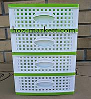 Органайзер на 4 ящика Ротанг зеленый производство Украина