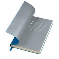 """Бізнес-блокнот """"Funky"""" синьо-сірий, Польща, під нанесення логотипів методом тиснення на обкладинці"""