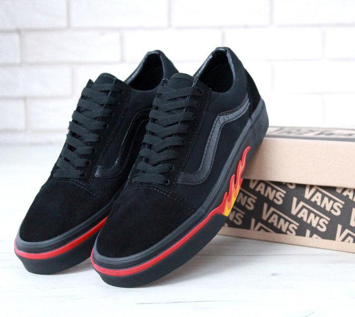 Кеды мужские Vans Old Skool Flame Black