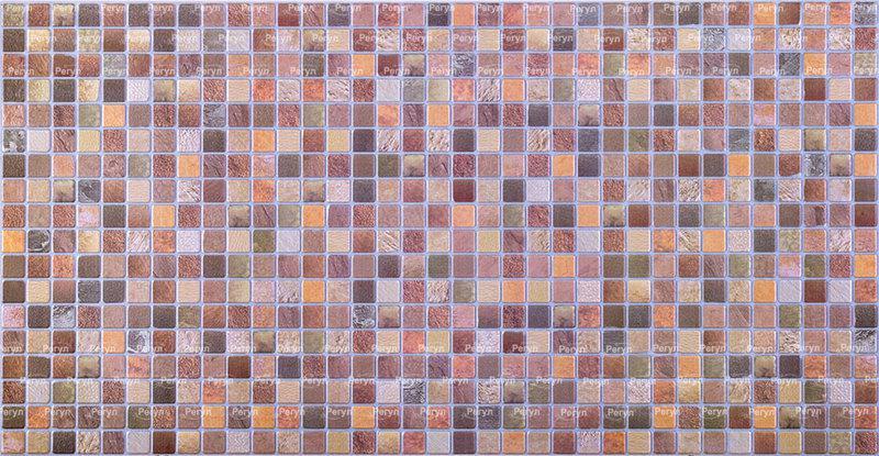 """Панели ПВХ  мозайка """"Античность коричневая"""""""