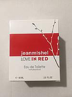 Тестер в подарочной упаковке jeanmishel love In Red 60мл