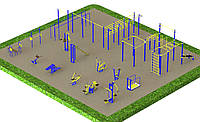 Спортивная площадка с уличными тренажерами 1755, фото 1