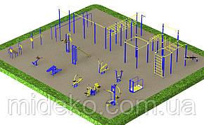 Спортивная площадка с уличными тренажерами 1755