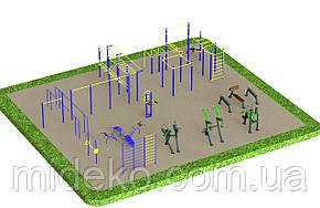 Спортивная площадка с уличными тренажерами LKH