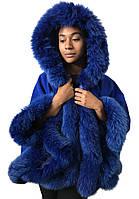 Пончо Кейп Пальто с капюшоном RizhikOva 65 см Electric Oversize RO-1230