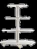 Пластиковая разборная подставка для торта  4 яруса