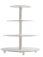 Пластиковая разборная подставка для торта  4 яруса, фото 1